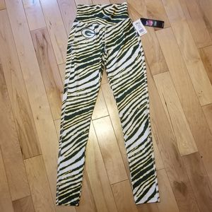 NewWTags Green Bay Packers NFL striped leggings xs